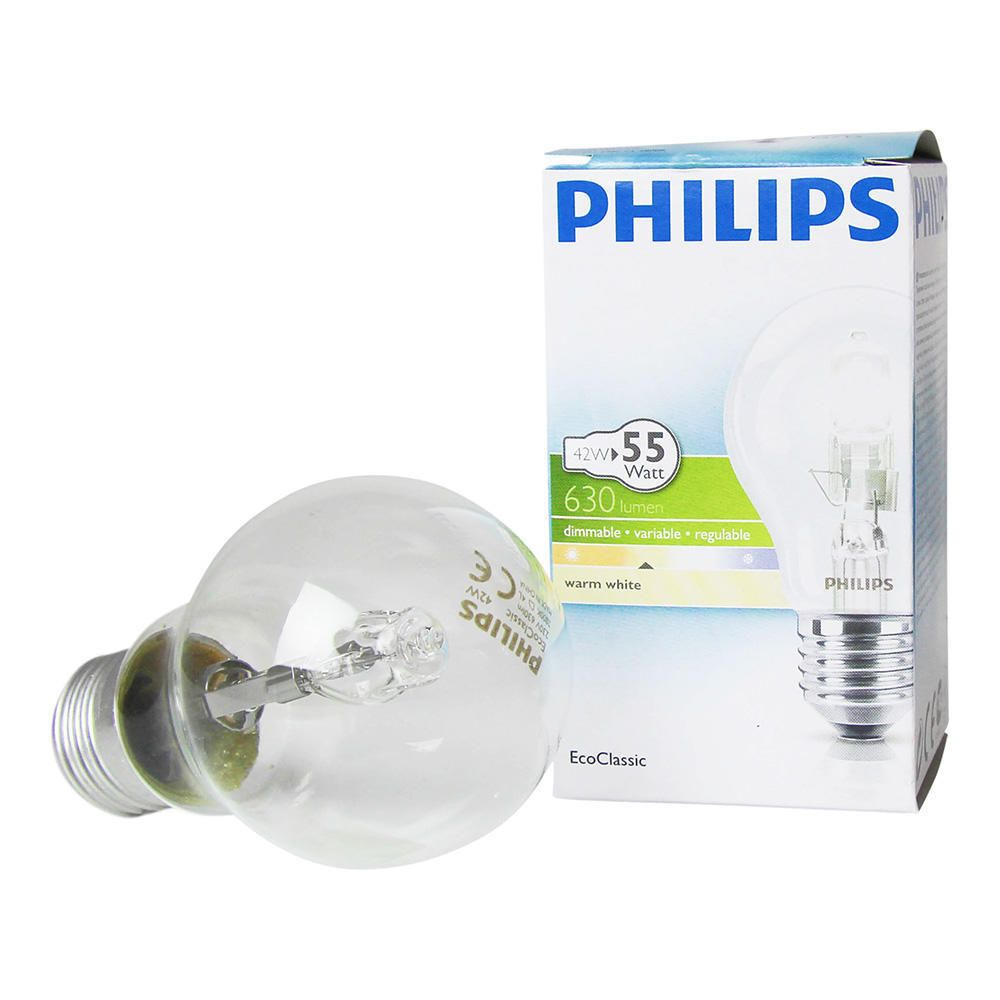 Philips EcoClassic 42W E27 230V A55 Clear