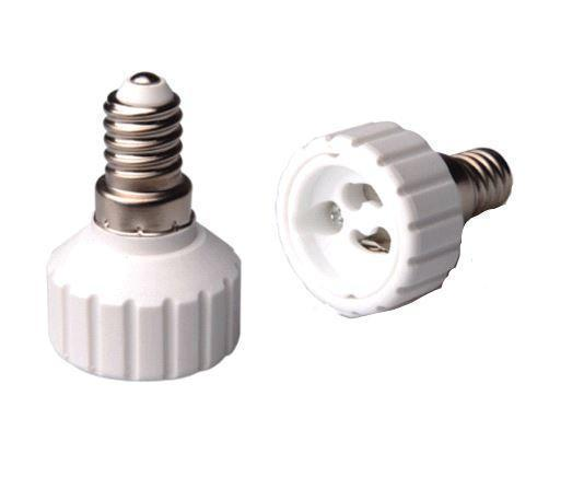 Adapter for lampholders E14 => GU10 White