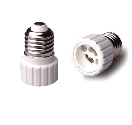 Adapter for lampholders E27 => GU10 White
