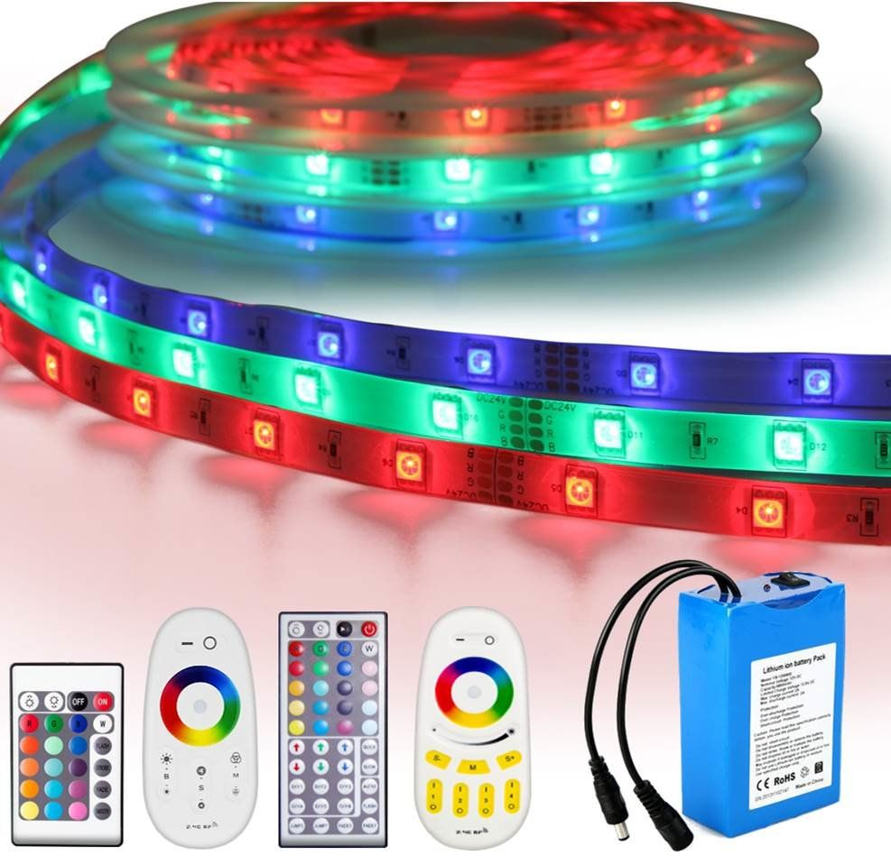 Led strip op batterij RGB Basic complete set 3 meter