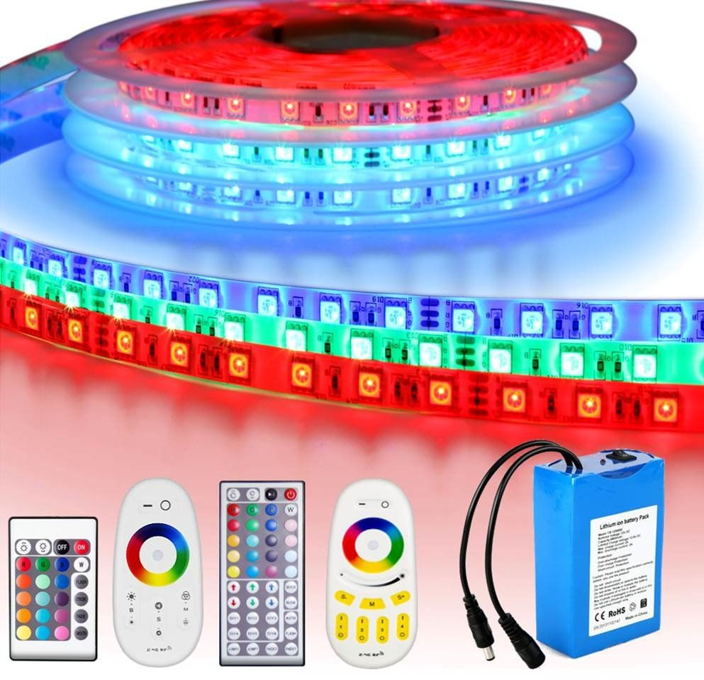 Led strip op batterij RGB Premium complete set 1 meter