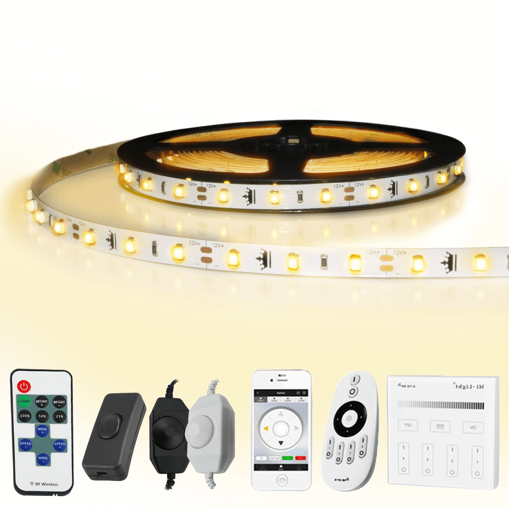 18 meter led strip Warm Wit complete set - Basic 1080 leds
