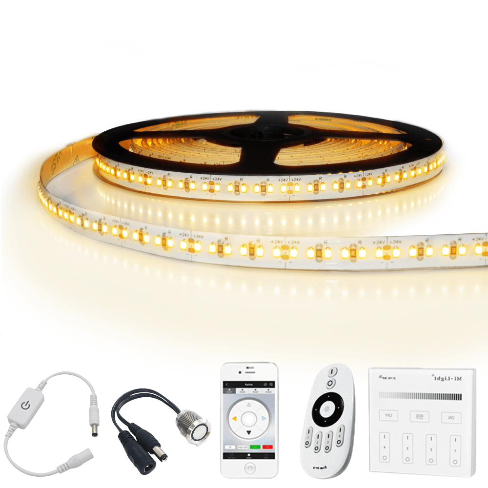 1 meter led strip Warm Wit Pro - complete set