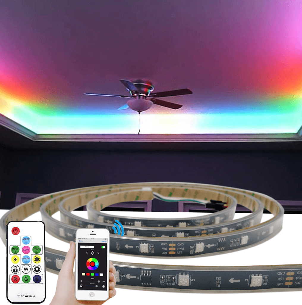 7,5 meter WS2811 digitale RGB led strip set - Basic
