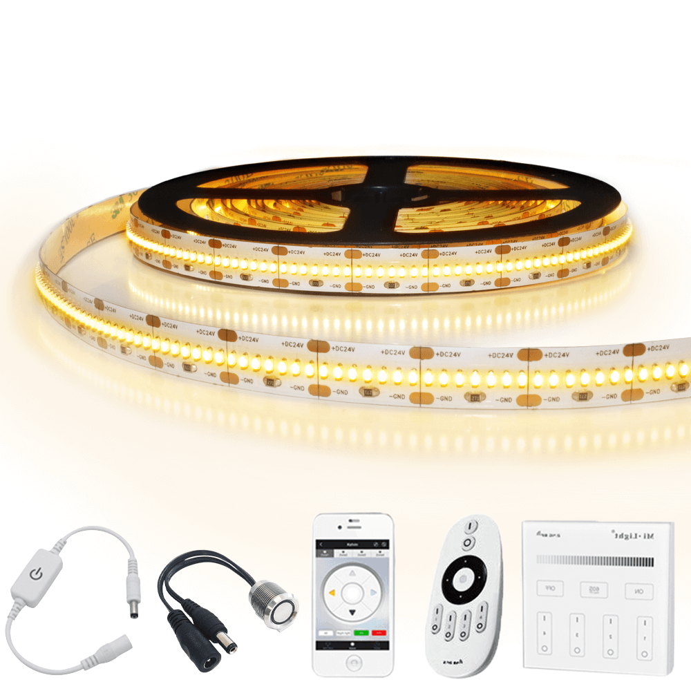 8 meter led strip Warm Wit Pro 420 - complete set