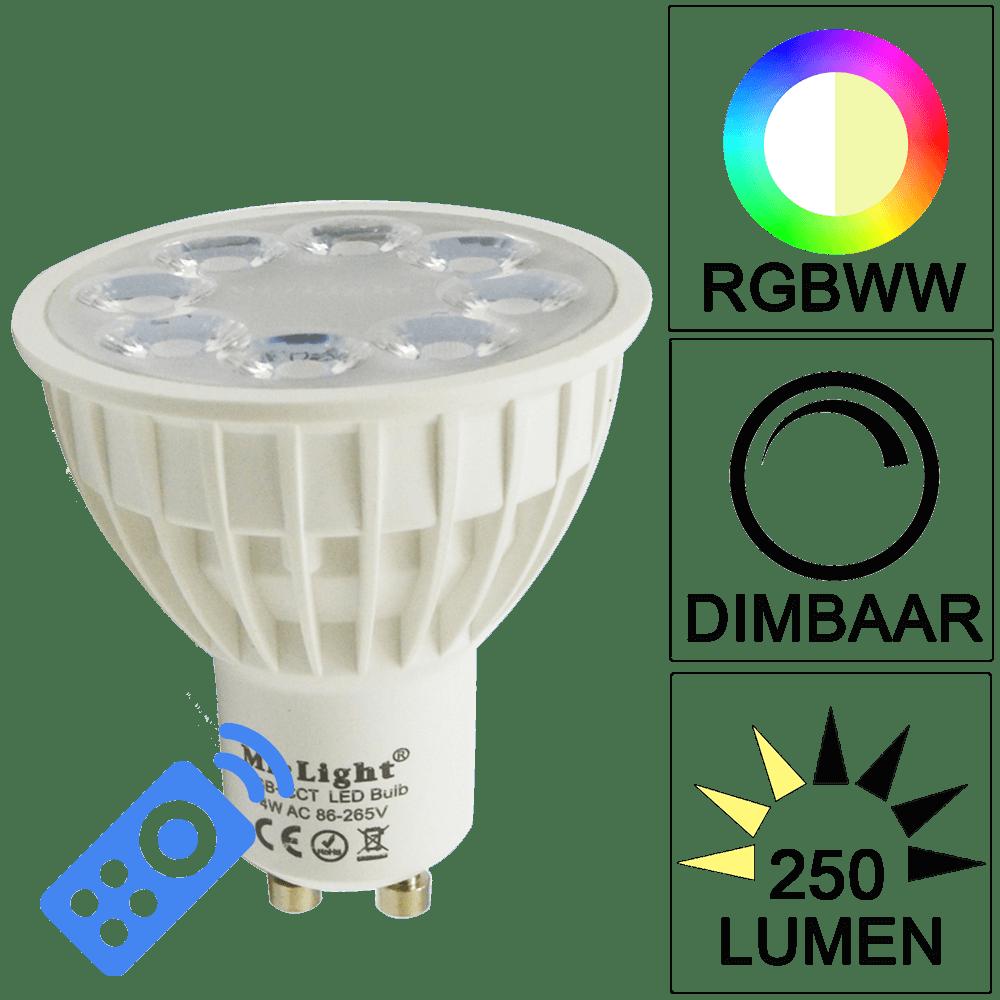 Led lampen op prijs vergelijken lampen verlichting online milight rgbww wifi led lamp set met afstandsbediening 4w gu10 parisarafo Image collections