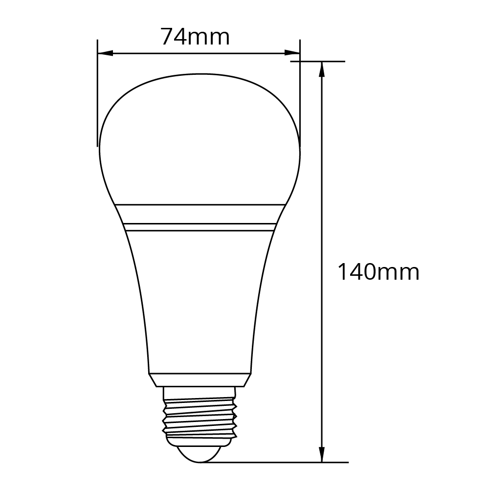 Milight Wifi led lamp RGBWW 12 Watt E27 fitting