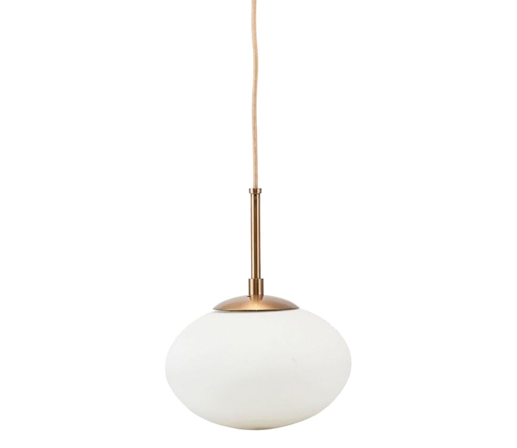 Housedoctor Opal hanglamp wit brass 22 cm matglas