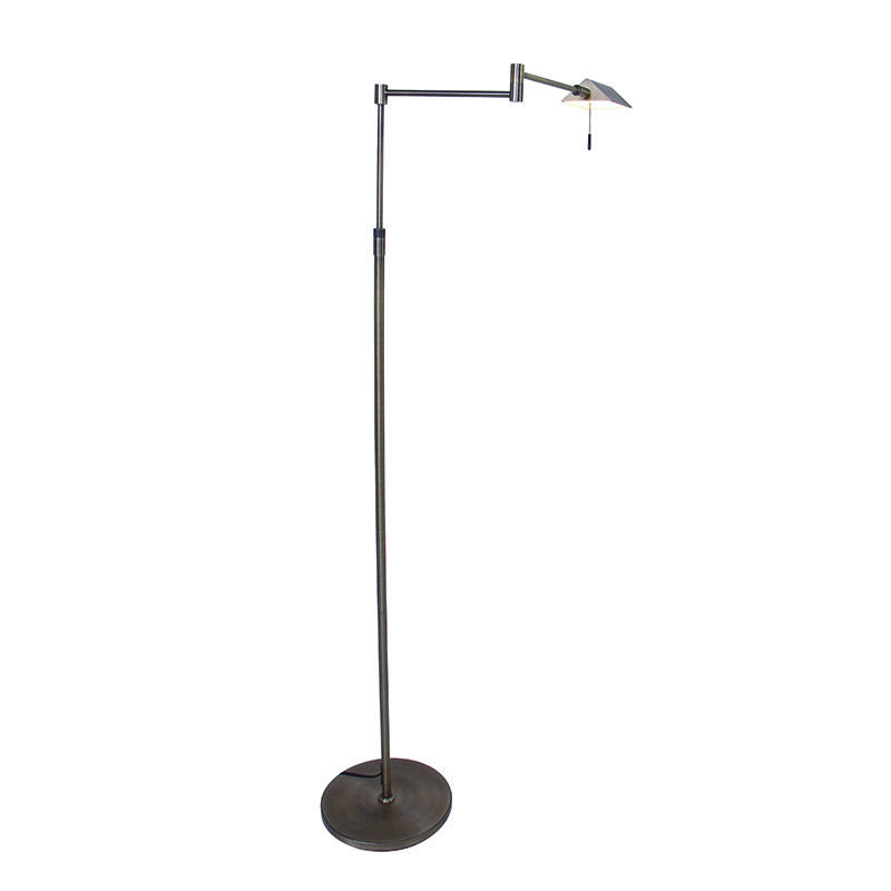 Moderne vloerlamp messing incl. LED - Micho