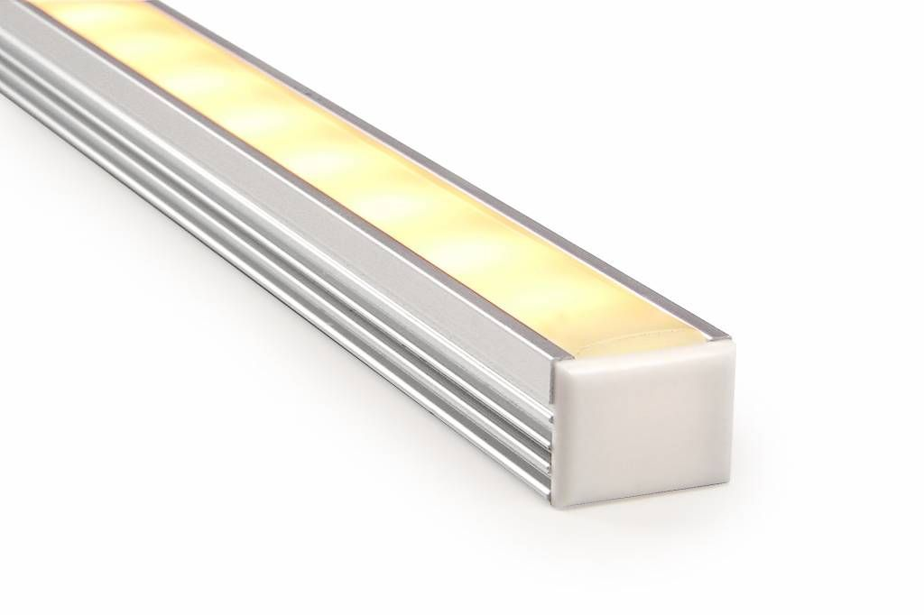 LED strip profiel 2 meter, type 1612 incl. mist cover