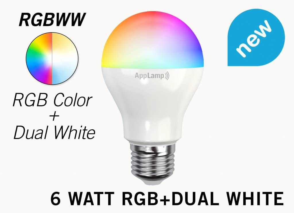 MiLight RGB+Dual White 6 Watt LED lamp