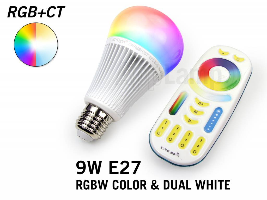 MiLight 9 Watt RGB+Dual White LED lamp