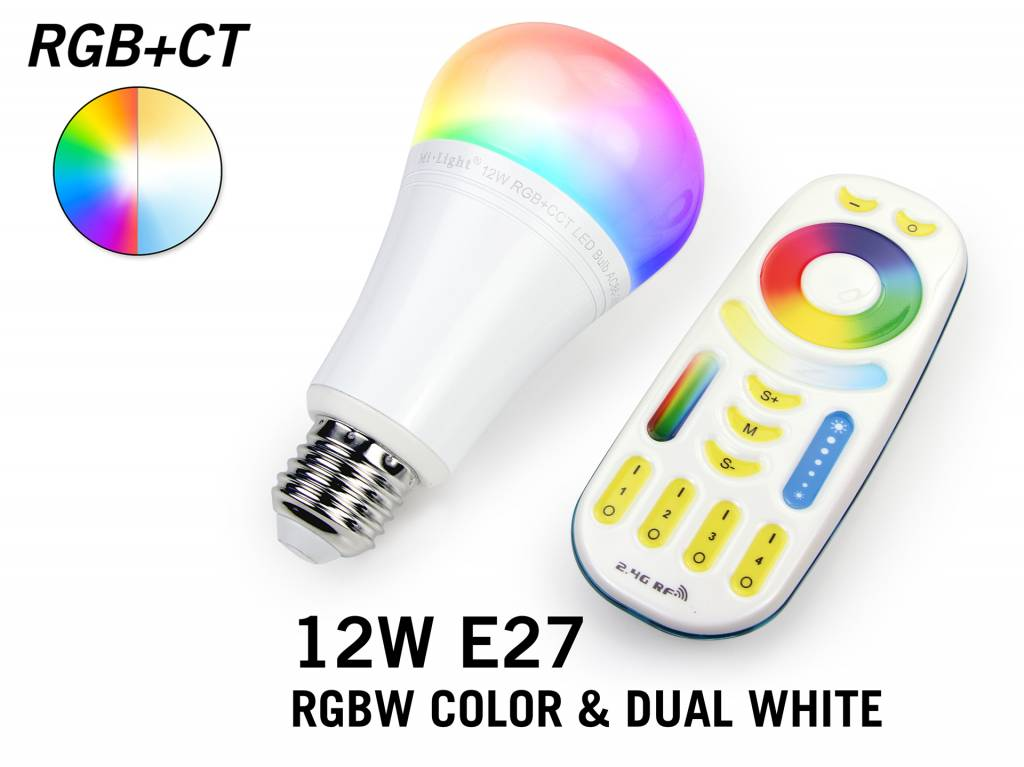 MiLight 12Watt RGBWW MiLight RGB+Dual White LED lamp