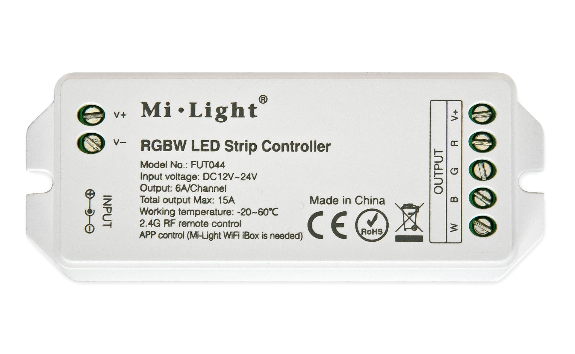 Mi·Light RGBW LED Strip Controller 12-24V, 15A (los)