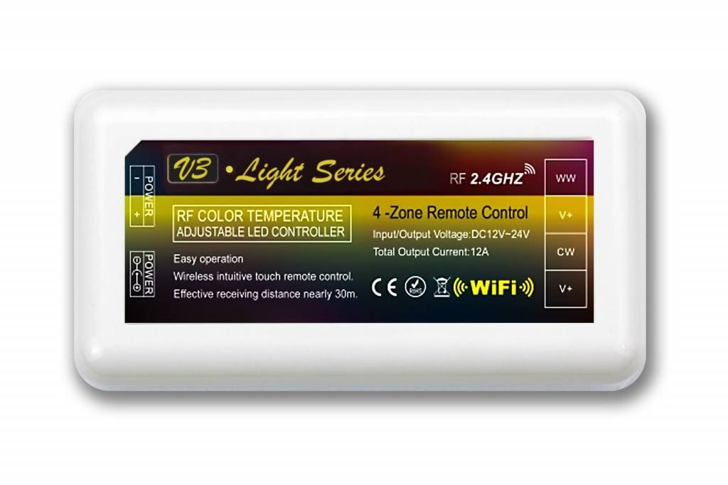 Mi·Light Dual White LED strip controller 12A, 12V-24V (LOS)