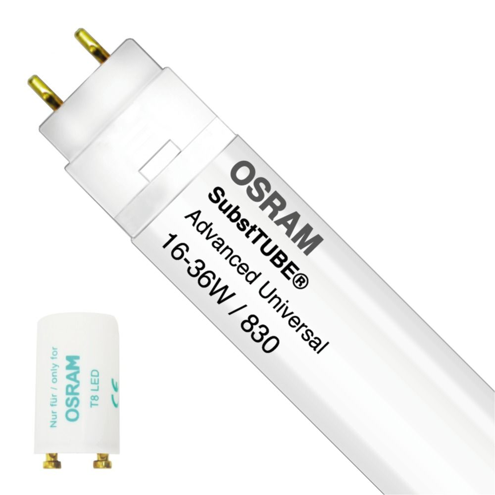 Osram SubstiTUBE Advanced UN 16W 830 120cm | Warm Wit - incl. LED Starter - Vervangt 36W