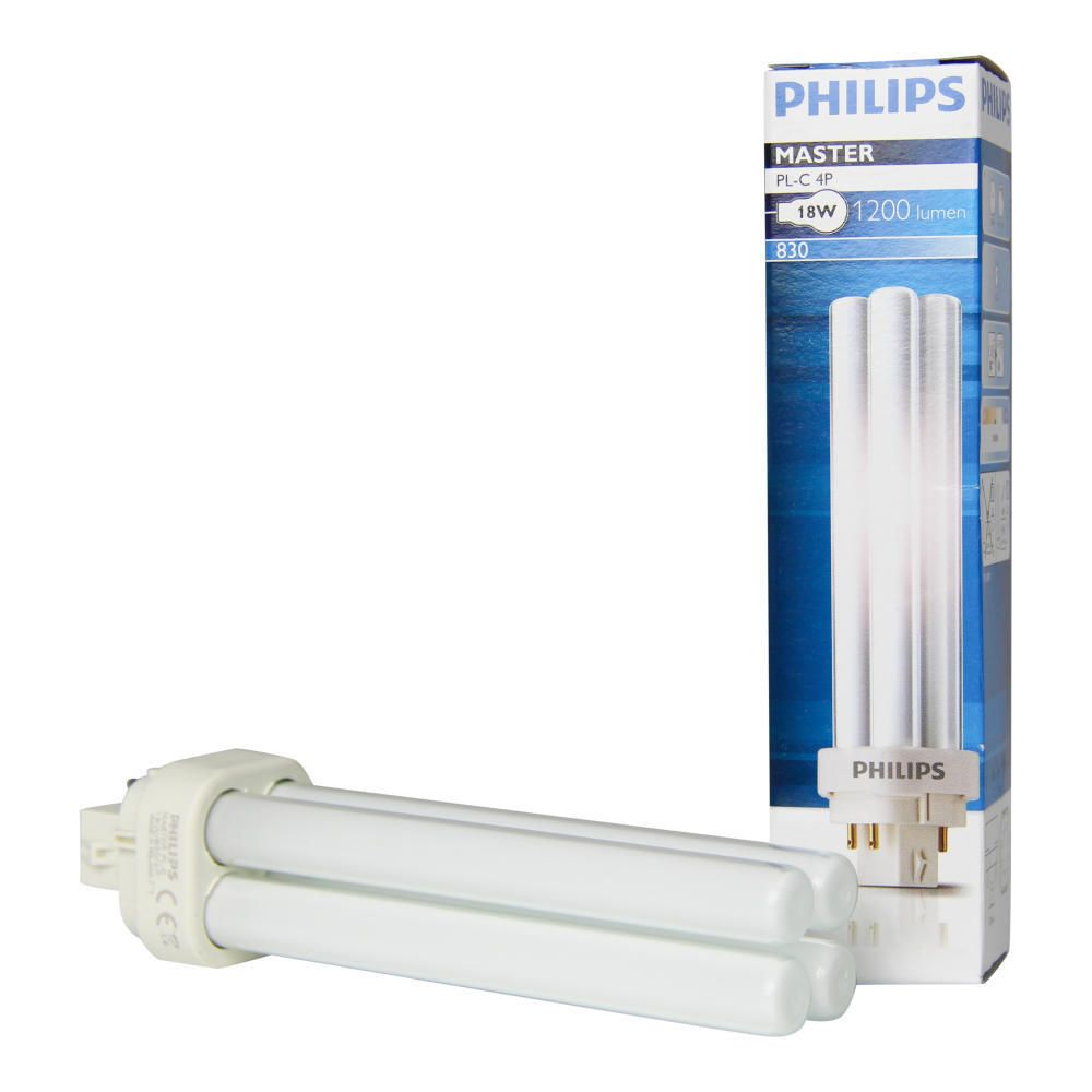 Philips PL-C 18W 830 4P (MASTER) | Warm Wit - 4-Pin