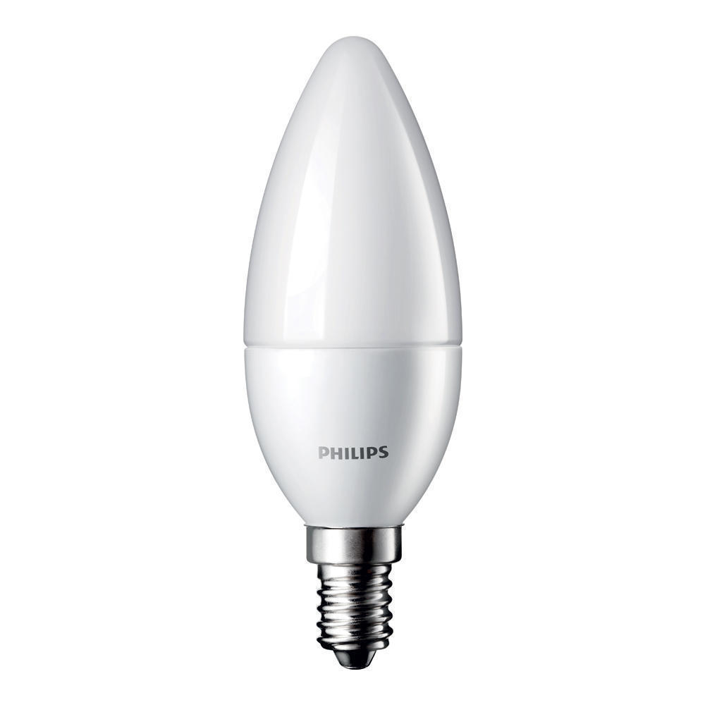 Philips kaarslamp LED mat 4W (vervangt 25W) kleine fitting E14