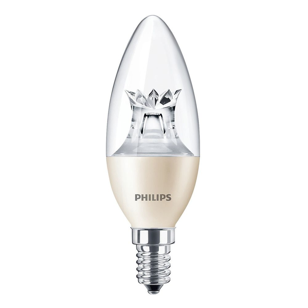 Philips kaarslamp LED helder 4W (vervangt 25W) kleine fitting E14