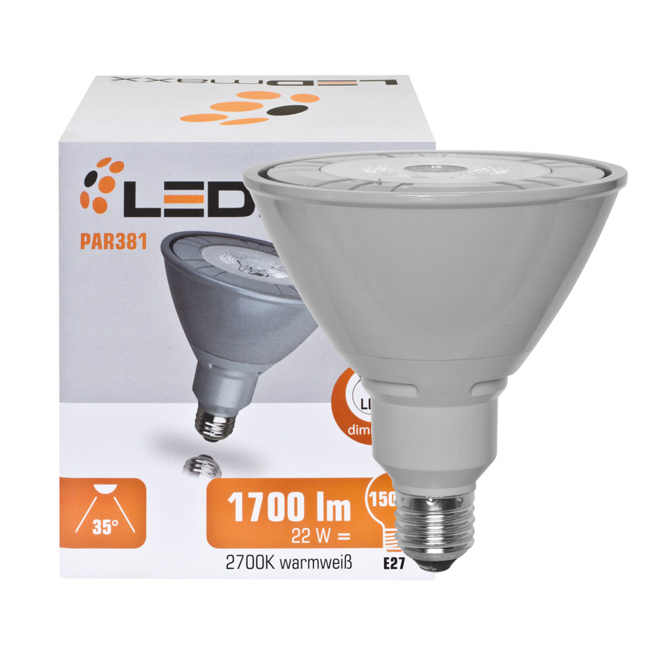 LED lamp E27 22 Watt 1700 Lumen 2700K helder
