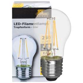 LED filament lamp 2W 250 lumen E27 2700K