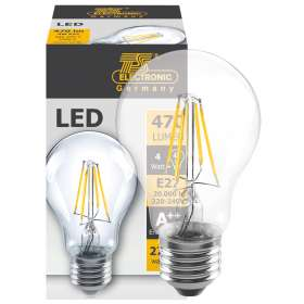 LED filament lamp 470 lumen E27 2700K 4.5W