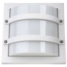 SG Largo LED Wandlamp E27 fitting vierkant mat wit IP65 IK10 611560