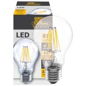 LED filament lamp 7W 810 lumen E27 2700K
