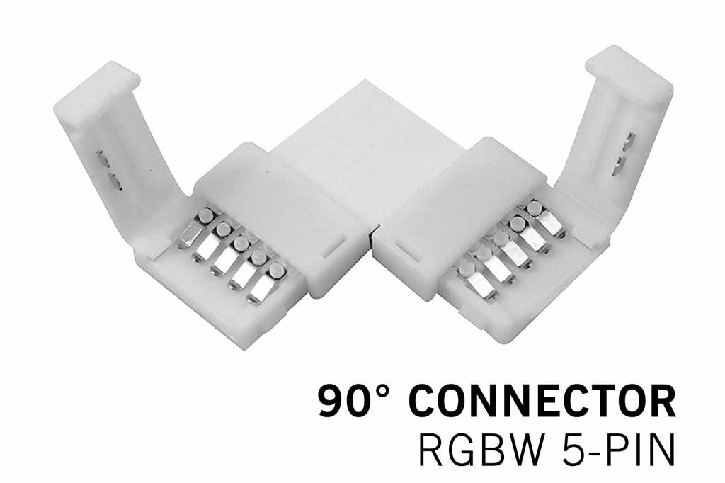 RGBW LED strip 90 hoek connector