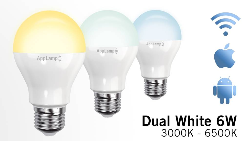 Wifi LED Lamp Dual White 6W