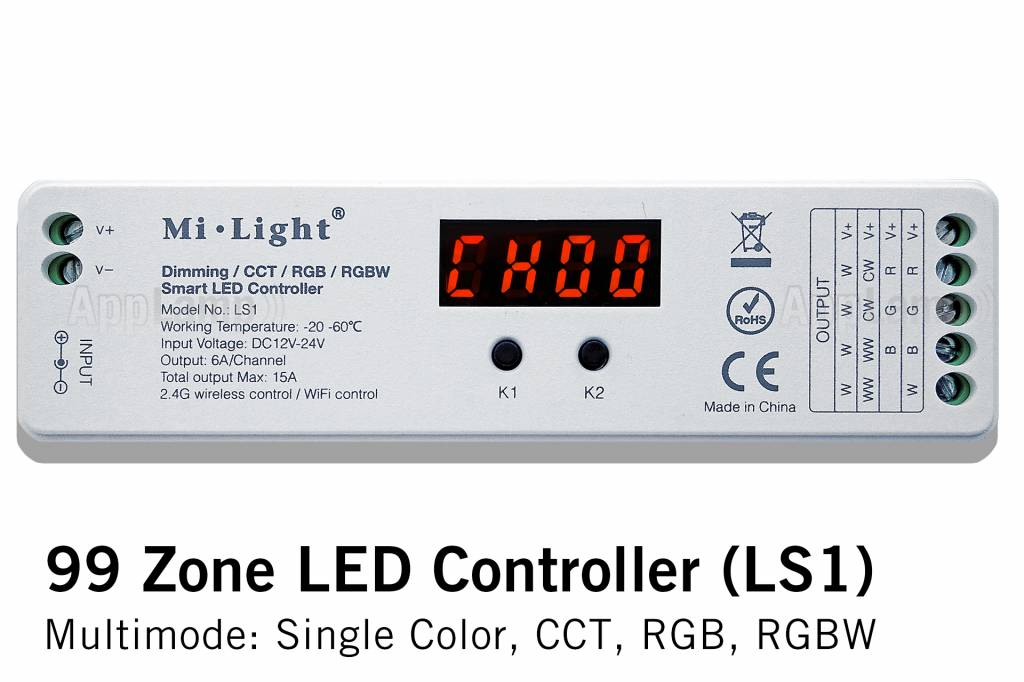 LS1 MiLight 99 zone LED controller